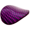 Check Beads Wavy Oval 36x25mm Fuchsia/black